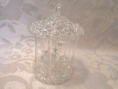 Lovely Spun Glass Vintage Bird in a Cage Figurine