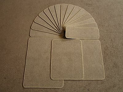 15 THICK Neutral beige gold stair pads treads 60cm x 21cm plus 3 large mats