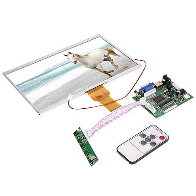 "10"" Inch Touch Screen LCD Display Module Board Remote For Raspberry Pi 1/2/3"