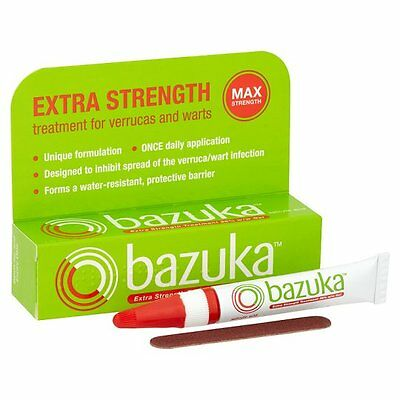 Bazuka Extra Strength Treatment Gel, for the Treatment of  Verrucas & Warts 6gm