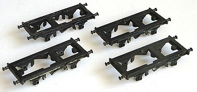 4 x Triang TT gauge wagon diecast chassis frame, spares, TT scale