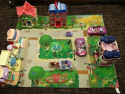 Fisher Price Sweet Streets MIxed Lot Ages 4+ 5 Buildings Accessories Figurines
