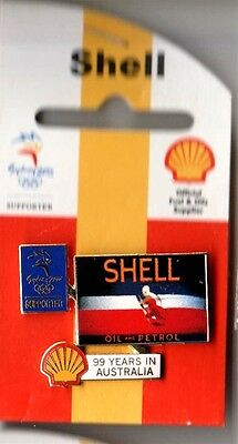 Sydney Olympic Games 2000 Shell 99 Years Motor Oil Supporter Pin Badge