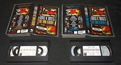 GUNS'N'ROSES - USE YOUR ILLUSION i & II (TWO ORIGINAL 1992 GEFFEN VHS VIDEOS)