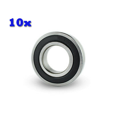 10PC Premium 697 2RS ABEC1 Rubber Sealed Deep Groove Ball Bearing 7 x 17 x 5mm