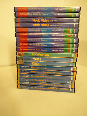 Animated Stories From the Book of Mormon 18 DVD LOT LDS New Testament Nest BIBLE