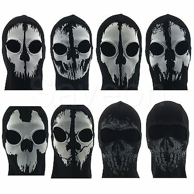 Ghost Skull Full Face Balaclava Mask Ski Warmer Paintball Biker Tube Scarf