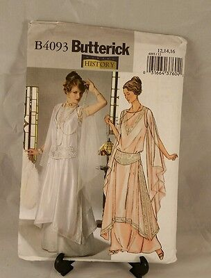 Butterick Making History pattern B4093 Loose fitting Tunic Gown and girdle uncut