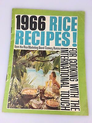 VINTAGE - 1966's RICE RECIPES RECIPES BOOKLET - SUNWHITE RICE
