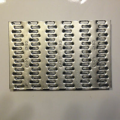 """6 QTY  4"""" x 6""""  Truss Plate - Mending Plate -Structural Plates Zinc nail tooth"""
