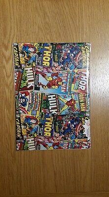Marvel Comic Book Super Hero Gift Wrap - 500mm x 700mm - 2 sheets