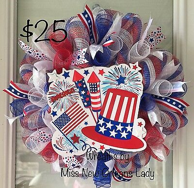 Stars And Stripes Patriotic 4Th Of July Wreath