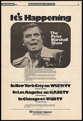 THE PETER MARSHALL VARIETY SHOW__Original 1976 Trade AD / TV series promo_poster