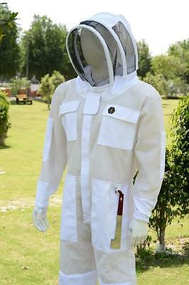 Ultra Ventilated 3 Layer Breeze Mesh Beekeeping Overalls Cool Bee Hive Full Suit