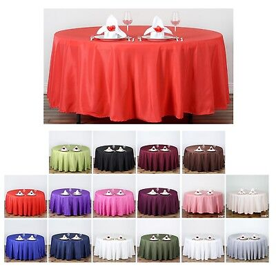 "108"" Round Polyester Tablecloth For Wedding Party Banquet Events Decoration"