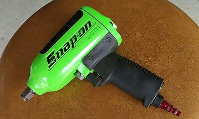 "Snap On Tools 1/2"" Drive Green Heavy Duty Air Impact Wrench MG725 Free Shipping."