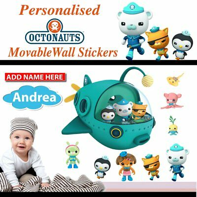 Personalized Octonauts Movable Wall Stickers