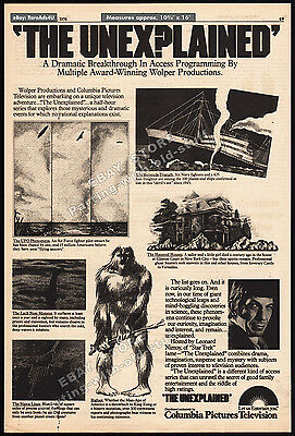 THE UNEXPLAINED / IN SEARCH OF...__Original 1976 Trade AD/ poster__LEONARD NIMOY