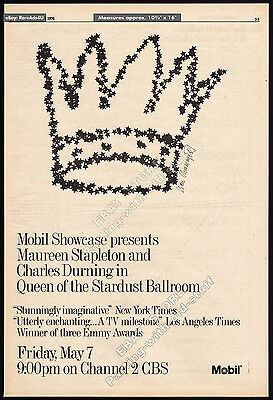 QUEEN OF THE STARDUST BALLROOM__Original 1976 Trade AD / poster__CHARLES DURNING