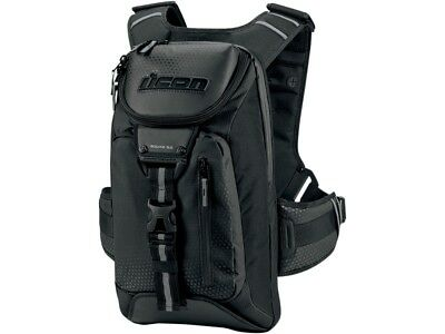 Icon Squad 3 Motorcycle bike Scooter Backpack Bag black Chest belt NEW