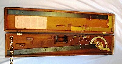 Antique Trigonometer - Lyman Protracting - Signed Heller & Brightly - Rare