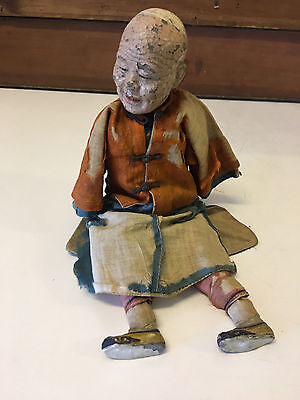 Vintage Possibly Antique Old Asian Chinese or Japanese Doll Man