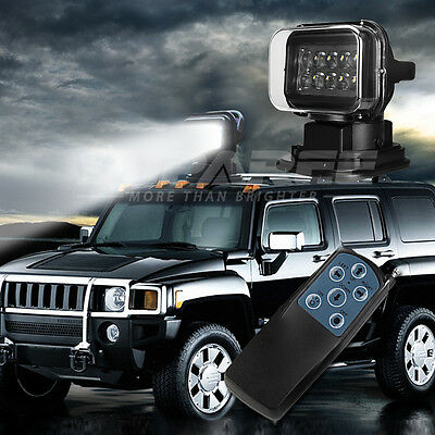 360° CREE Remote Search LED Spot Work Light Boat Truck - magnetic mount offroad