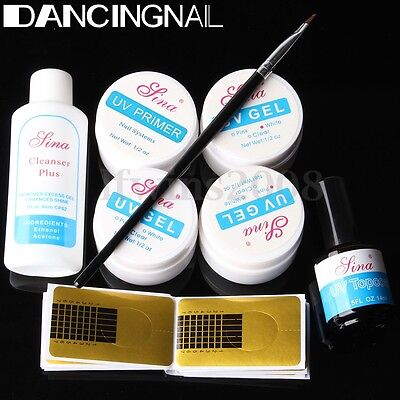 KIT UV Gel Ongle Extension Finition Construction Manucure Nettoyage Nail Art Set