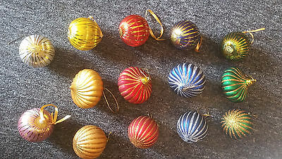 Vintage Retro Christmas Decorations late 70's early 80's - Set of 14