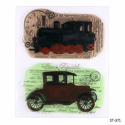 Train and Car Design Clear Stamp for DIY Scrapbooking Photo Album Decor Cards