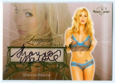 "Shannon Malone ""lingerie Autograph Card"" Benchwarmer Hobby 2013"