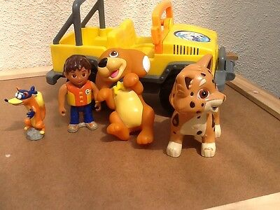Rare Mattel Perrito Puppy & Talking Jeep & More Dora The Explorer
