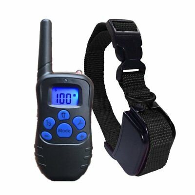 Pet Dog Training Collar Rechargeable Electric LCD 100LV Shock Collar US PLUG