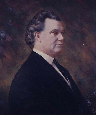Earl Leroy Brewer Governor of Mississippi Portrait Oil Painting Hand Painted