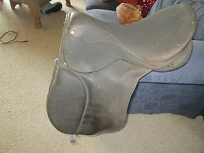 """15 1/2"""" Martin Synthetic  Brown  Pony   Saddle  Wide"""