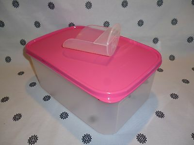 Tupperware Modular Mate Rectangle # 2 with Pink Seal Pantry Storage + Scoop New