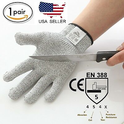 Cut Resistant Gloves, Cut Level 5 Protection, Food Grade, CE & EN388 Certified