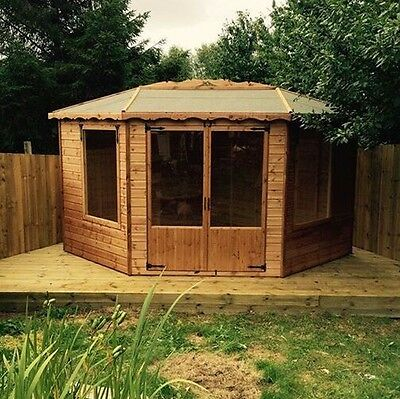 10x10 summerhouse corner home office insulated double glazed options