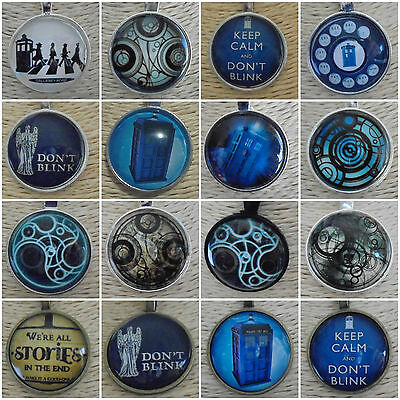Doctor WHO Pendant TARDIS Silver Dr Beatles Don't Blink Weeping Angel Alice Bag