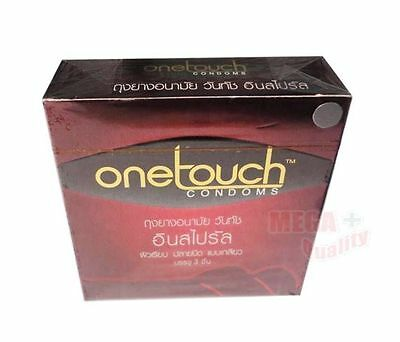 One Touch Inspiral Smooth Condom Spiral Closed-ended Natural Lubricant Size 52mm