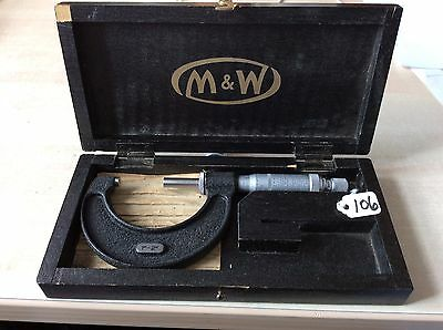 """Moore & Wright Outside Micrometer 1-2"""""""