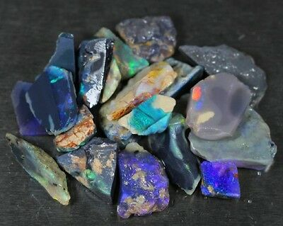 Beautiful Natural Opal Rough Australian Lightning Ridge  89 cts  20 pieces