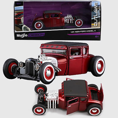 1/24 Maisto Design Outlaws 1929 Ford Model A Diecast Model Car Vehicle Kids Toy