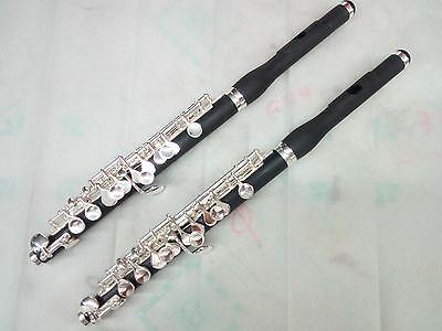 2PCS BEAUTIFUL COMPOSITE WOOD PICCOLO With SILVER PLATED KEYS