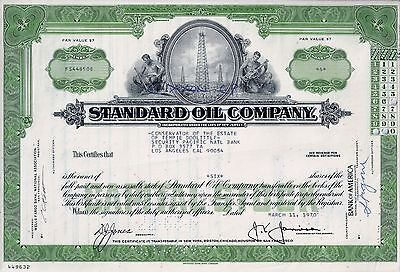 Standard Oil Company, New Jersey, 1970 (6 Shares)