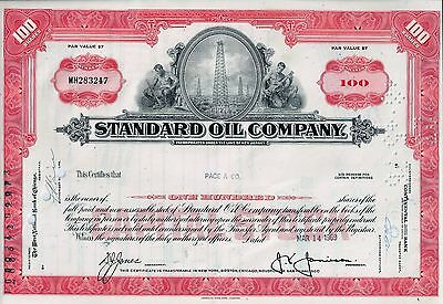 Standard Oil Company, New Jersey, 1969 (100 Shares)