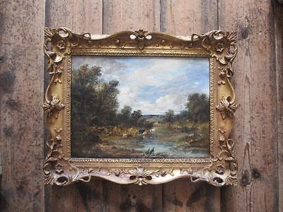 Landscape Oil Painting on Canvas on Board circa 1820 DWK01654