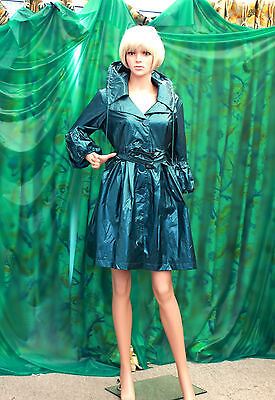 Jump be First Lady's black Gothic lightweigh  fashion raincoat clubbing party TV