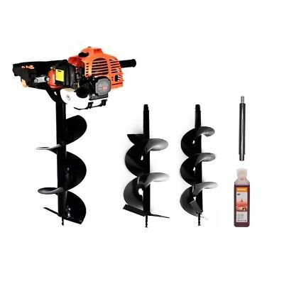 STRONG 5.2HP Petrol Earth Auger Hole Borer with 3 Drils + Extension SET