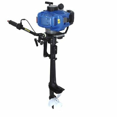 Hq Outboard Engine 5.8 Hp 2 Stroke Motor Light Inflatable  Pro Engine Blue